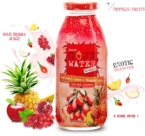 Exotic Gojiwater Goji Berry Juice Tropical Fruits